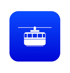 Funicular icon digital blue vector