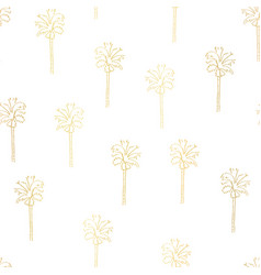 gold foil palm trees seamless pattern tile vector image
