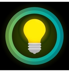 Green eco energy bulb concept vector