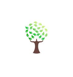 green tree environmental logo vector image