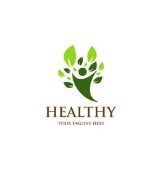 Healthy logo design vector