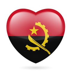 Heart icon of Angola vector