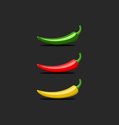 Hot chili pepper logo mockup mexican jalapeno red vector