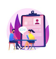 Job interview process concept metaphor vector
