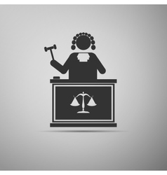 Judge With Gavel icon vector