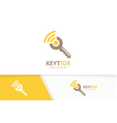 Key and wifi logo combination lock and vector