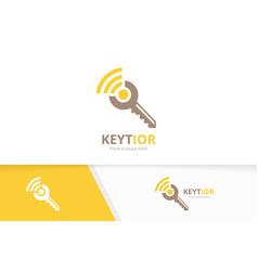 Key and wifi logo combination lock vector