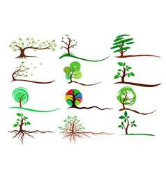 logos trees vector image