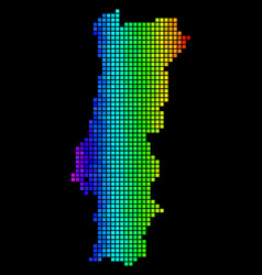 luminous dot portugal map vector image