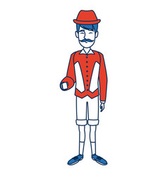 man with custome traditional switzerland culture vector image