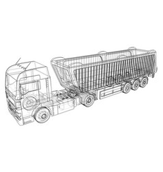 modern cargo truck isolated on white background vector image