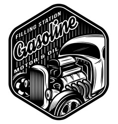 Monochrome template for a filling station vector