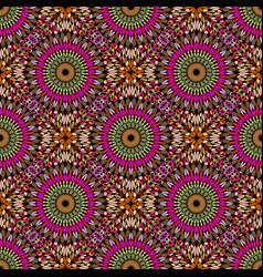 Multicolor oriental mandala flower mosaic pattern vector