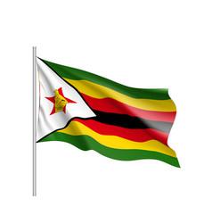national flag of zimbabwe vector image
