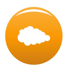 Overcast icon orange vector