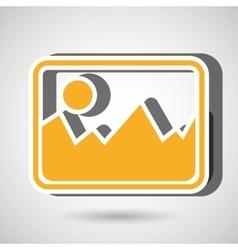 Picture icon design vector