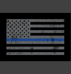 Police support flag grey vector