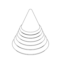 Pyramid toy icon isometric 3d style vector