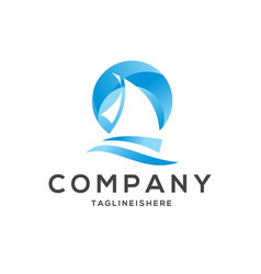 Sea scape logo vector
