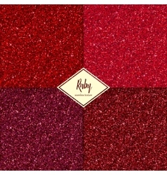 Set of ruby texture vector