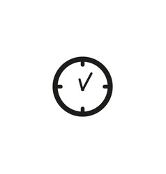 simple set of time related line icons vector image