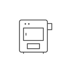 Solid fuel boiler line outline icon vector