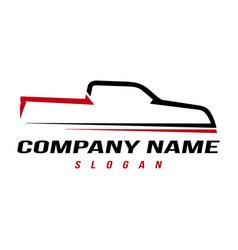 Sport truck logo vector