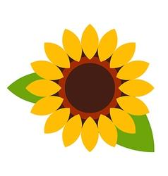 Sunflower - flower icon vector image