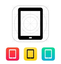 Tablet screen icon vector image