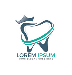 Tooth logo template for dentistry vector