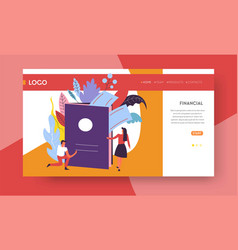 traveling online web page template passport and vector image