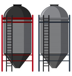 Two silo with ladders vector