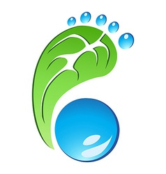 Eco Friendly Footprint vector image