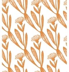 hand drawn calendula background vector image vector image