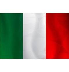 Italy flag polygonal vector image vector image