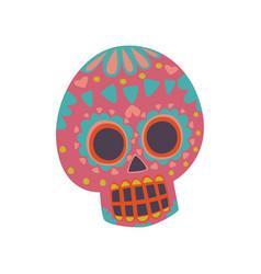 mexican sugar skull with pattern dia de muertos vector image vector image
