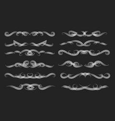 swirl vintage dividers set vector image