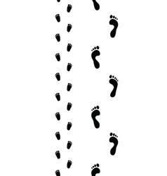 Trail of feet seamless vector