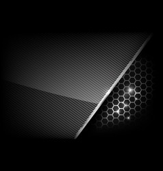dark and black with metal honeycomb pattern vector image vector image