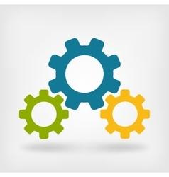 Development gears symbol vector image