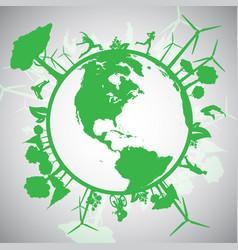 Green eco world vector