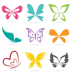 group of butterflies vector image