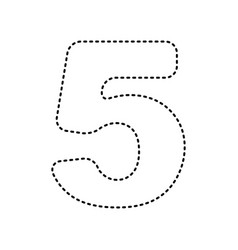 number 5 sign design template element vector image vector image