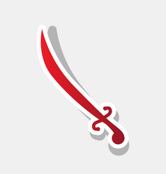 sword sign new year reddish vector image