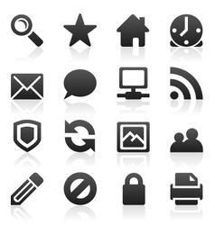 web site icon set vector image vector image