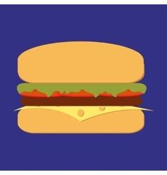 bbq burger vector image