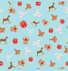 children pattern with toys vector image