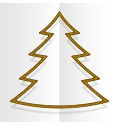 Gold Sequins Christmas Tree Winter New Year vector image vector image