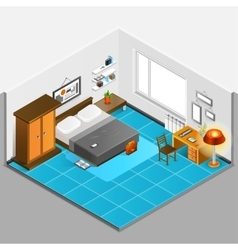 Home Interior Isometric vector image vector image