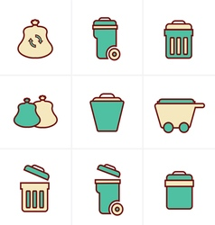Icons Style Icons Style Garbage Icons vector image
